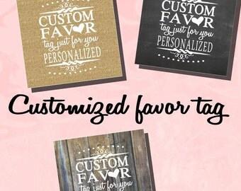 """Birthday Custom Favor tag 2"""" x 2"""" or 2.5"""" x 2.5"""" or  3"""" x 3"""" Digital file - tag BT20050 51 52  DIY (1- PDF file)"""