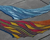Pattern Only Many Rivers Asymmetrical Bias Knit Shawl or Scarf