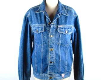 Guess! Denim Jacket by Georges Marciano, Made in the USA, Guess! Jean Jacket, 100% Cotton