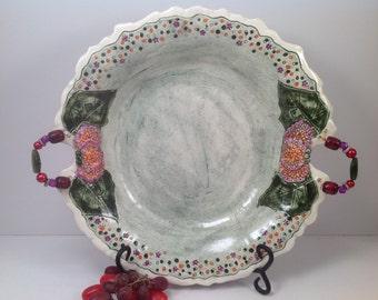 Sale pottery/Large Salad bowl/salad bowl/ pottery bowl/wedding/large ceramic bowl/serving bowl/pasta bowl/handmade pottery bowl/wedding gift