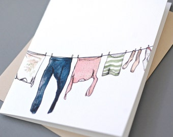 Clothesline Notecard