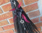 Black Goth Style Witch Broom, Witch's Altar Broom, Black Rose, Black Witches  Broom, Gothic Witch, Witchcraft, Wiccan Broom, Pagan Altar,