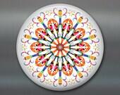 mandala art refrigerator magnet, colourful fridge magnet kitchen decor, bright colors decor, spiritual decor, housewarming gift MA-MAND-39