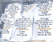Embroidered Wedding Hankerchiefs, Wedding Gifts, Set of Six, Wedding Gift Wedding Gifts Mom Dad In-Laws Grandma By Canyon Embroidery on ETSY
