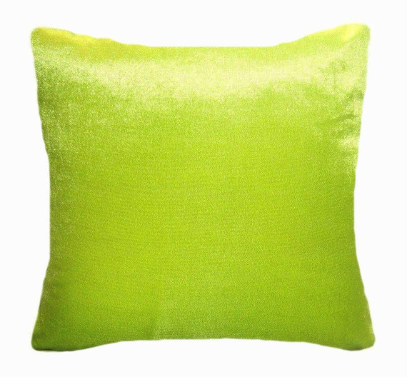 Light Green Velvet Pillow 18x18 New Decorative Soft Throw