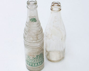 Soda Bottle Buds Beverages Collectible Glass Hazel Atlas