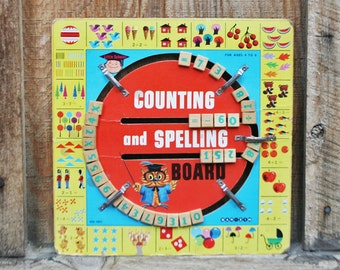 Vintage Counting and Spelling Board by Bar Zim