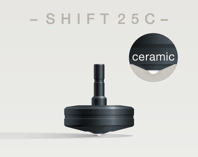 SHIFT 25C – Precision spinning top with ceramic tip - desk and pocket top