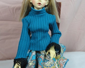 MSD BJD Sweater Turquoise 2