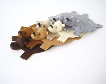 Bear Rug Coaster (Set of 7)