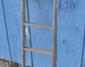 small handmade  display wood ladder