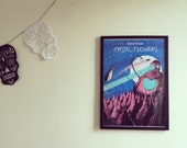 Crystal Fighters screen printed poster