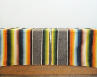 Vintage Mexican Serape Table Runner 21 X 45