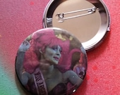 Beetlejuice Miss Argentina pin horror badge pinback button hand pressed 2-1/4 inch pin  80s retro