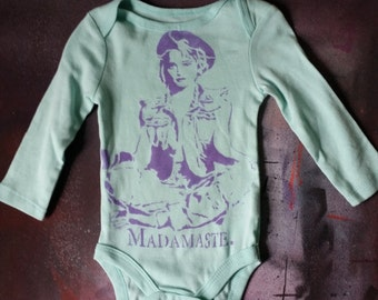 SALE Ready 2 Ship 80s Madonna baby bodysuit infant creeper crawler snapsuit onepiece