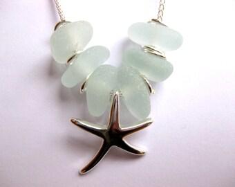 SS Starfish  necklace Beach Glass Jewelry Starfish pendant
