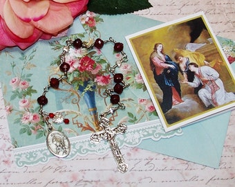 Unbreakable Hearts and Roses Catholic Chaplet of St. Valentine - Patron Saint of Lovers, Happy Marriages, Travellers and Bee Keepers