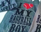 Baseball Shirt, Baseball Mom Shirt, Baseball Mom Tee, Baseball Mom Bling Shirt, Baseball Mom Tank, I heart my baseball boys, Bling