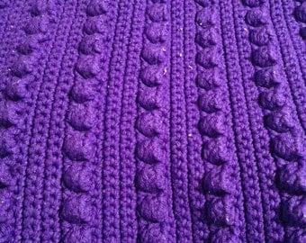 Purple Poppy Crocheted Afghan