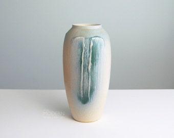 Japanese Studio Pottery Applied Glaze Mid Century Modern Tall Vase