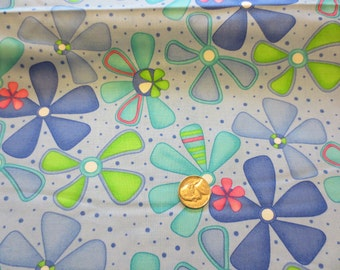 Dilly Dally by Me & My Sister Designs Cotton Quilting Fabric in blue by Moda, Pattern #22141, 1 yard and 15 in.