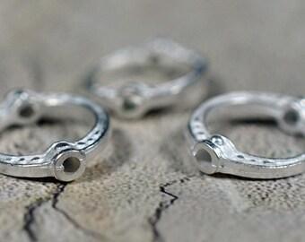 Silver color oval frames, 20mm -#532