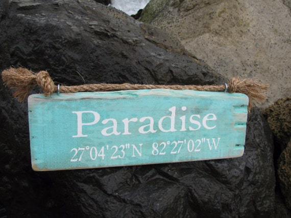 Vintage Wooden Rustic Beach Signs Coastal Decor Custom Beach Signs