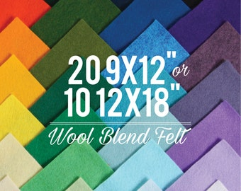 Wool Felt Sheets // Choose your own colors // Felt Square, Wool Fabric, Nonwoven Fabric, Merino Wool, Waldorf Felt, Custom Felt Colors
