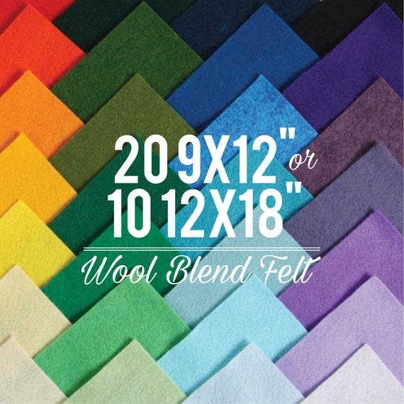 Wool Felt Sheets // Choose your own colors // Felt Square, Wool Fabric, Nonwoven Fabric, Merino Wool, Waldorf Felt, Custom Felt Colors