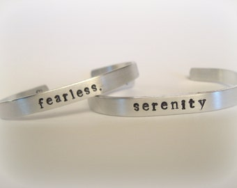 Custom Personalized Aluminum Cuff Bangle Bracelet