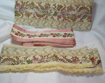 Heavy Embroidered  Upholstery Tapestry Like Trim.