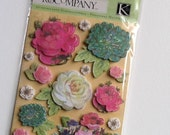 Serendipity Floral Dimensional Scrapbook Sticker Embellishments from K&Company