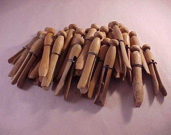 28 Wire Wrapped Wood Clothes Pins