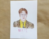 A5 Dwight Schrute 'Beets' Print
