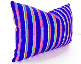 Purple Pillow, Tribal Pillows Covers, Colorful Pillow Covers, Bohemian Decor, Boho Bedding, Mexican Cushion, Square, tribal pillowcase