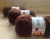 MOHAIR BOUCLE YARN - Brown - Doll Hair 10g & 50gr