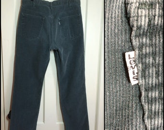 Vintage 519 Levis Corduroys 36x30 soft green gray Straight Leg cords 36 inch waist #1560