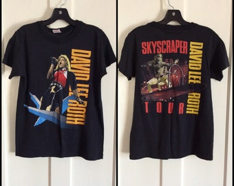 David Lee Roth 1988 Skyscraper Concert Tour T-shirt size Medium