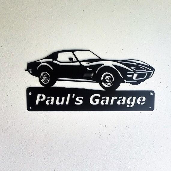 1972 Chevrolet Corvette Personalized Classic Man Cave Metal Sign Garage Art Satin Black