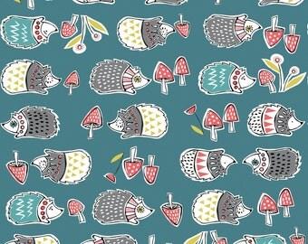 1/2 Yard Organic KNIT Fabric - Monaluna Anya Knits - Hedgies Knit