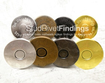 50 sets /18 mm Magnetic Snap Closure / Extra Thin