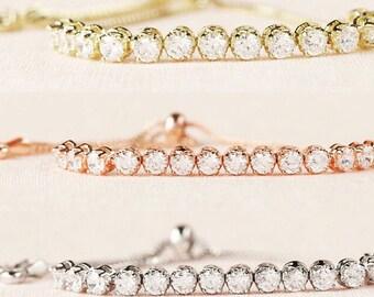 Cubic zirconia adjustable designer inspired bracelets-Rhinestone bracelet-gold cubic zirconia bracelet-silver cubic zirconia bracelet-rose