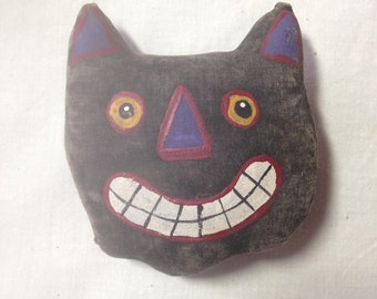 Halloween Primitive Cat Ornament Prim Ornie Cat