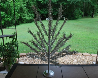 Vintage Three Foot Table-Top Evergleam Aluminum Christmas Tree, Excellent Condition.