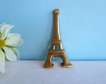 Vintage Brass Eiffel Tower Bottle Opener