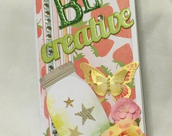 Be Creative scrapbook Journal Album-One Of A Kind-Unique