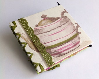Guest Book with teapot on front cover