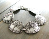 Seasons No. 5, Fine Silver and Sterling Bracelet, Seasons of Life, Handmade Artisan Original by SilverWishes