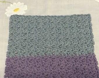Crochet Blue/Denim and Purple Sink Cloth/Wash Cloth