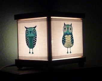 Owls Night Light Nightlight Lamp Nursery Neutral Decor